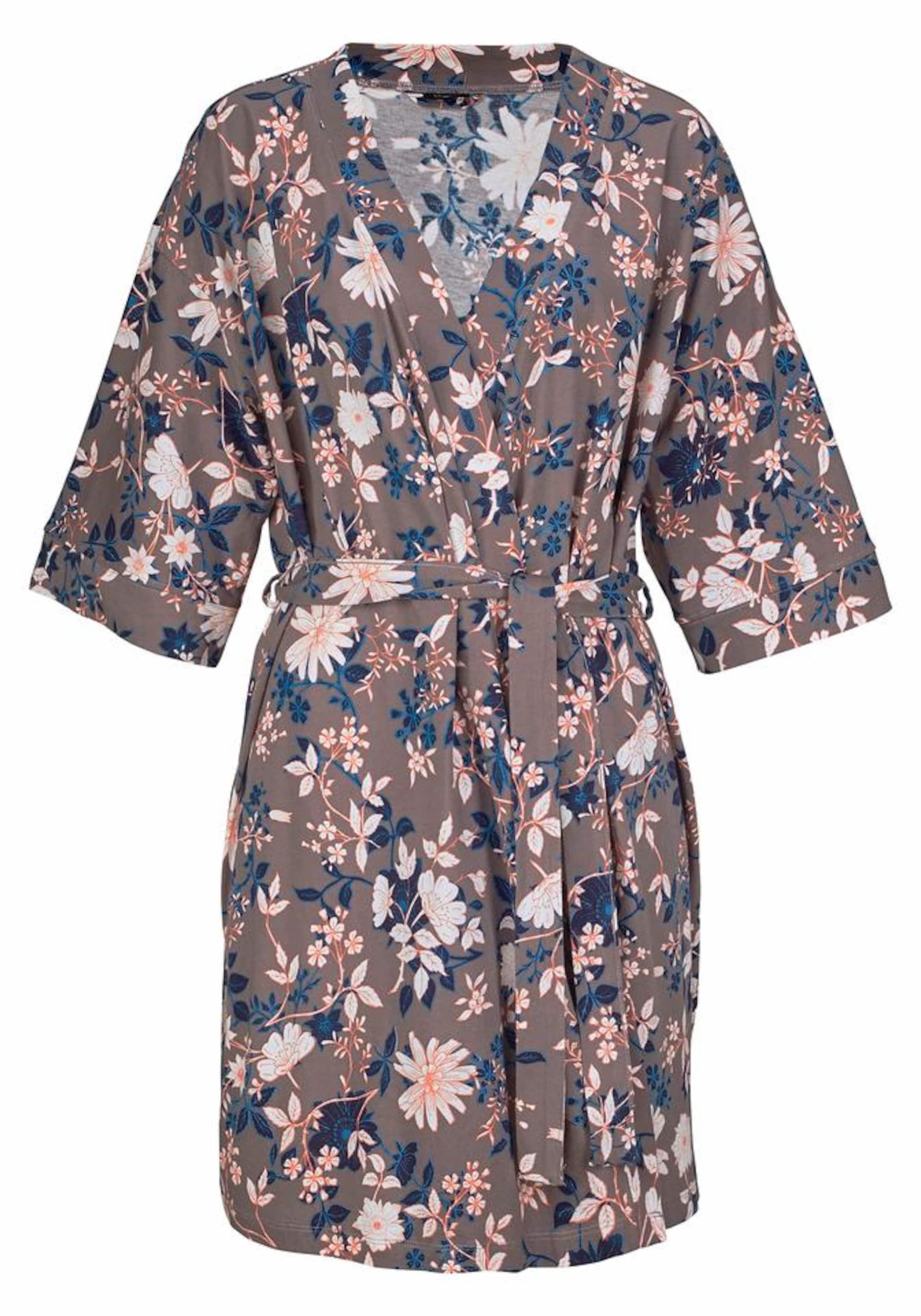 s.Oliver RED LABEL Bodywear Kimono mit Blumenprint Footlocker Abbildungen Günstigen Preis K6NSGpww
