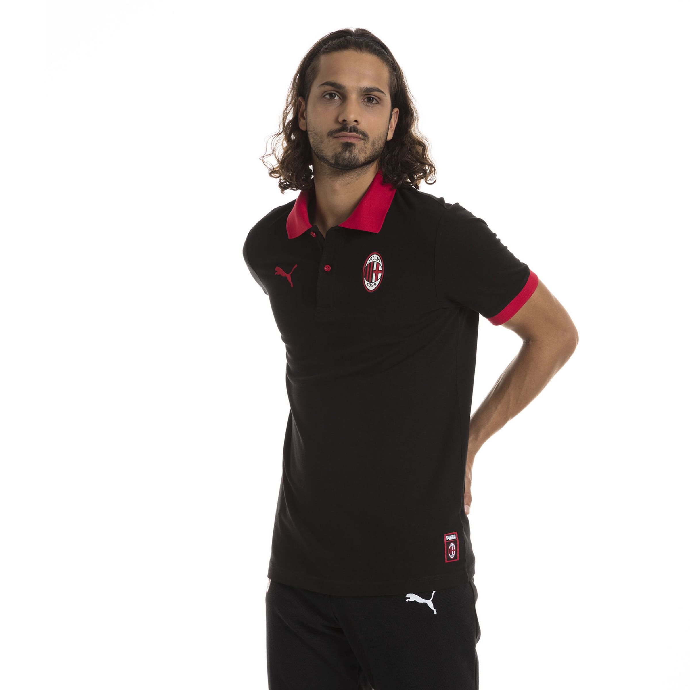 Puma Milan' Poloshirt In RotSchwarz 'ac v8nmwON0
