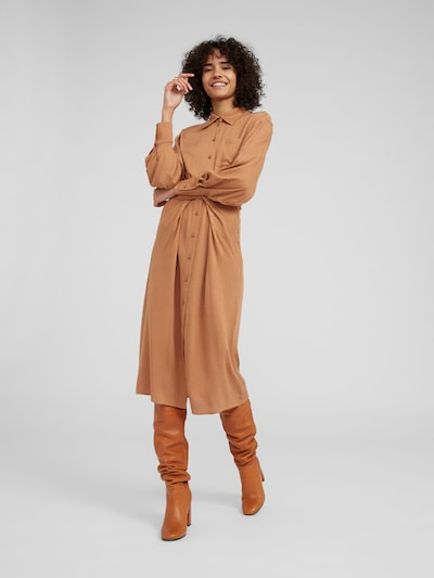 EDITED Kleid 'Mana' in camel, Modelansicht