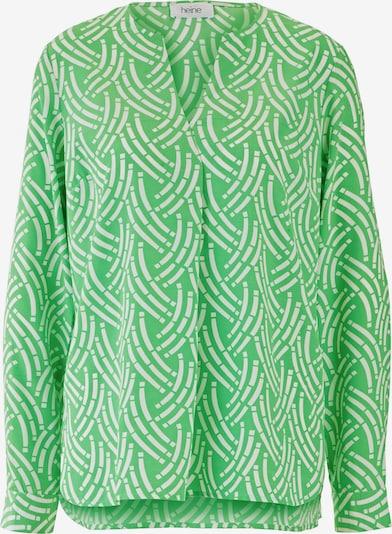 heine Bluse in grün / weiß: Frontalansicht