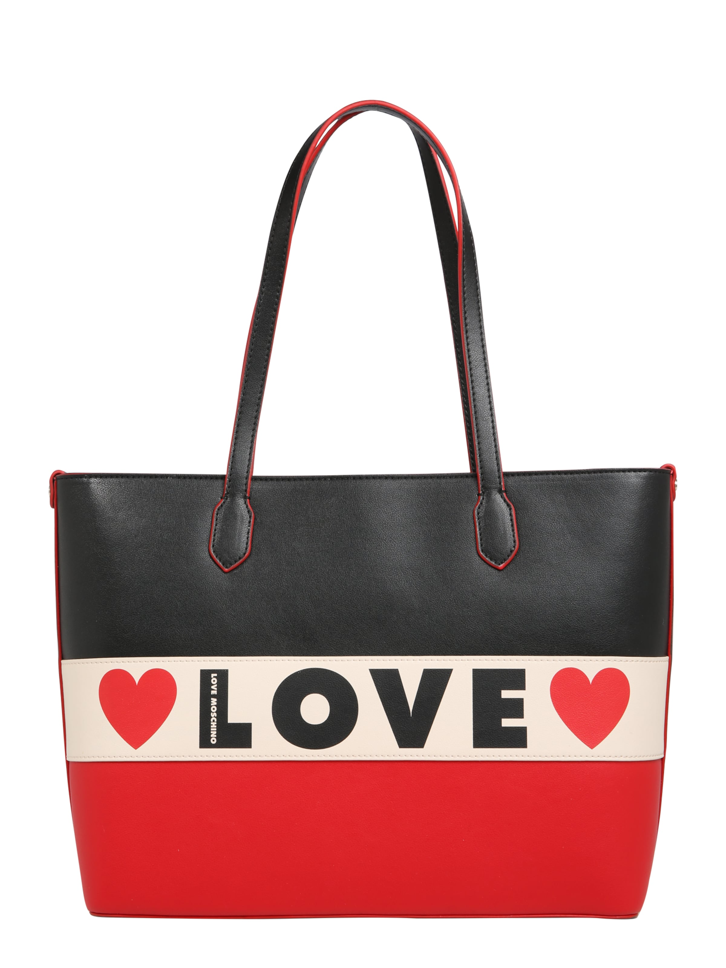 Small Cabas En Love Noir 'borsa Grain' Moschino BeigeRouge 1uFKTlcJ3
