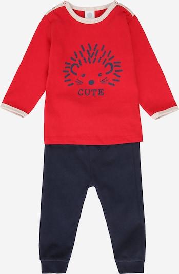 SANETTA Pyjama in dunkelblau / hellrot, Produktansicht