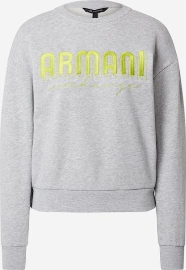 ARMANI EXCHANGE Sweatshirt in gelb / grau, Produktansicht