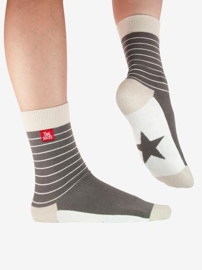 Tag SOCKS Socken 'Stars & Stripes' in hellgrau / dunkelgrau / weiß, Modelansicht