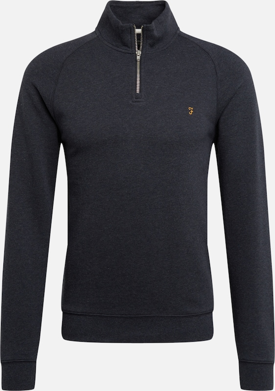 FARAH Sweatshirt 'JIM 1/4 ZIP' in navy, Produktansicht