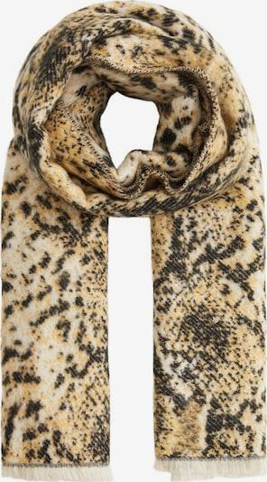 MANGO Schal 'Jacquard' in beige / schwarz / weiß, Produktansicht