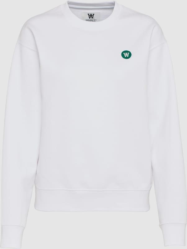 WOOD WOOD Sweatshirt 'Jess' in weiß  Freizeit, schlank, schlank