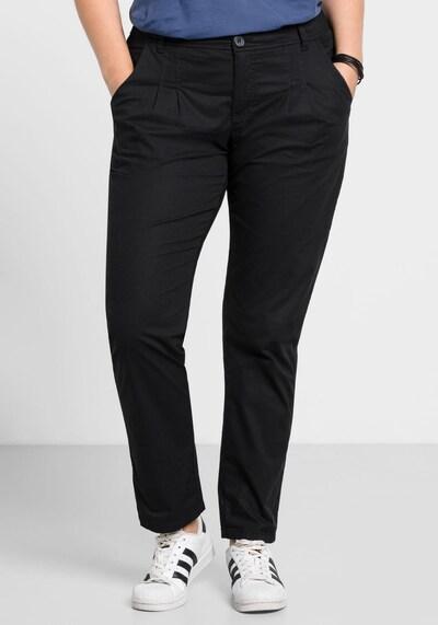 SHEEGO Chinohose in schwarz, Modelansicht
