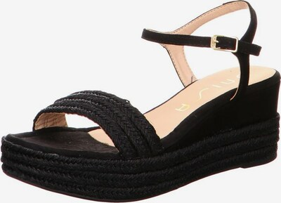 UNISA Sandale in schwarz: Frontalansicht
