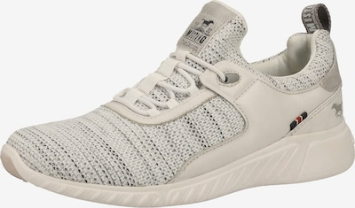 Pantofi cu șireturi sport MUSTANG pe bej / alb, Vizualizare produs