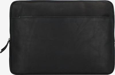 Burkely Laptoptas 'Josh' in de kleur Zwart: Vooraanzicht