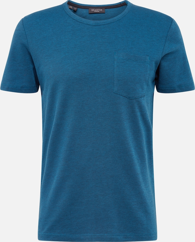 SELECTED HOMME T-Shirt 'MUTE' in dunkelblau: Frontalansicht