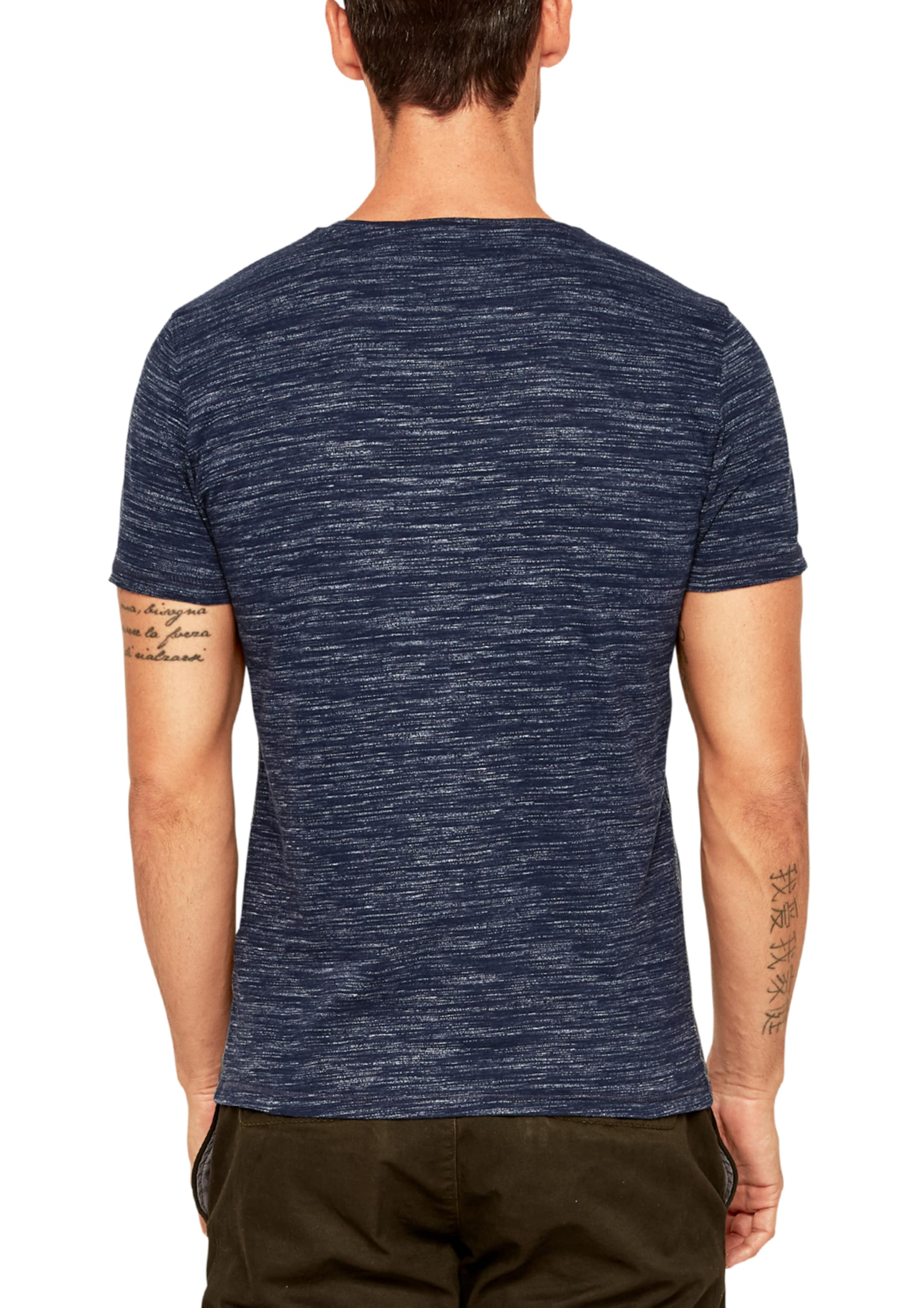 In Red DunkelblauBlaumeliert S Label oliver Shirt m8n0wvN