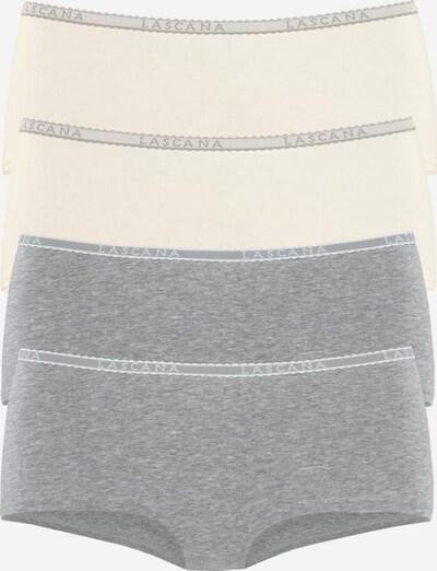 LASCANA Panty (4 Stück) in creme / graumeliert, Produktansicht