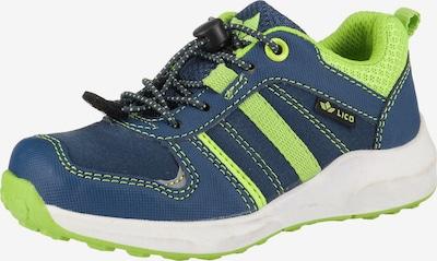 LICO Sneakers 'Paterson' in blau / neongrün, Produktansicht