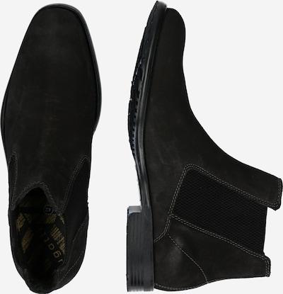 bugatti Chelsea boots in de kleur Zwart: Zijaanzicht