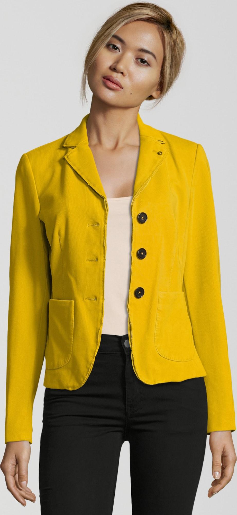 blonde no 8 blazer 39 cannes jersey 39 in gelb about you. Black Bedroom Furniture Sets. Home Design Ideas