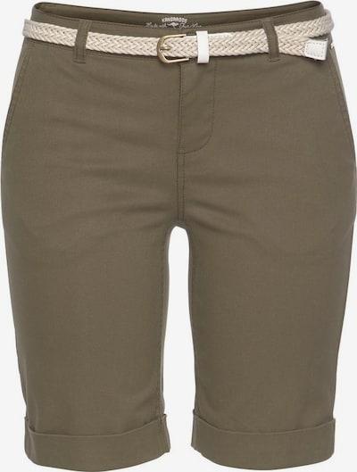 KangaROOS Hose mit Gürtel in khaki: Frontalansicht