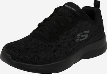 SKECHERS Rövid szárú edzőcipők 'DYNAMIGHT' - fekete