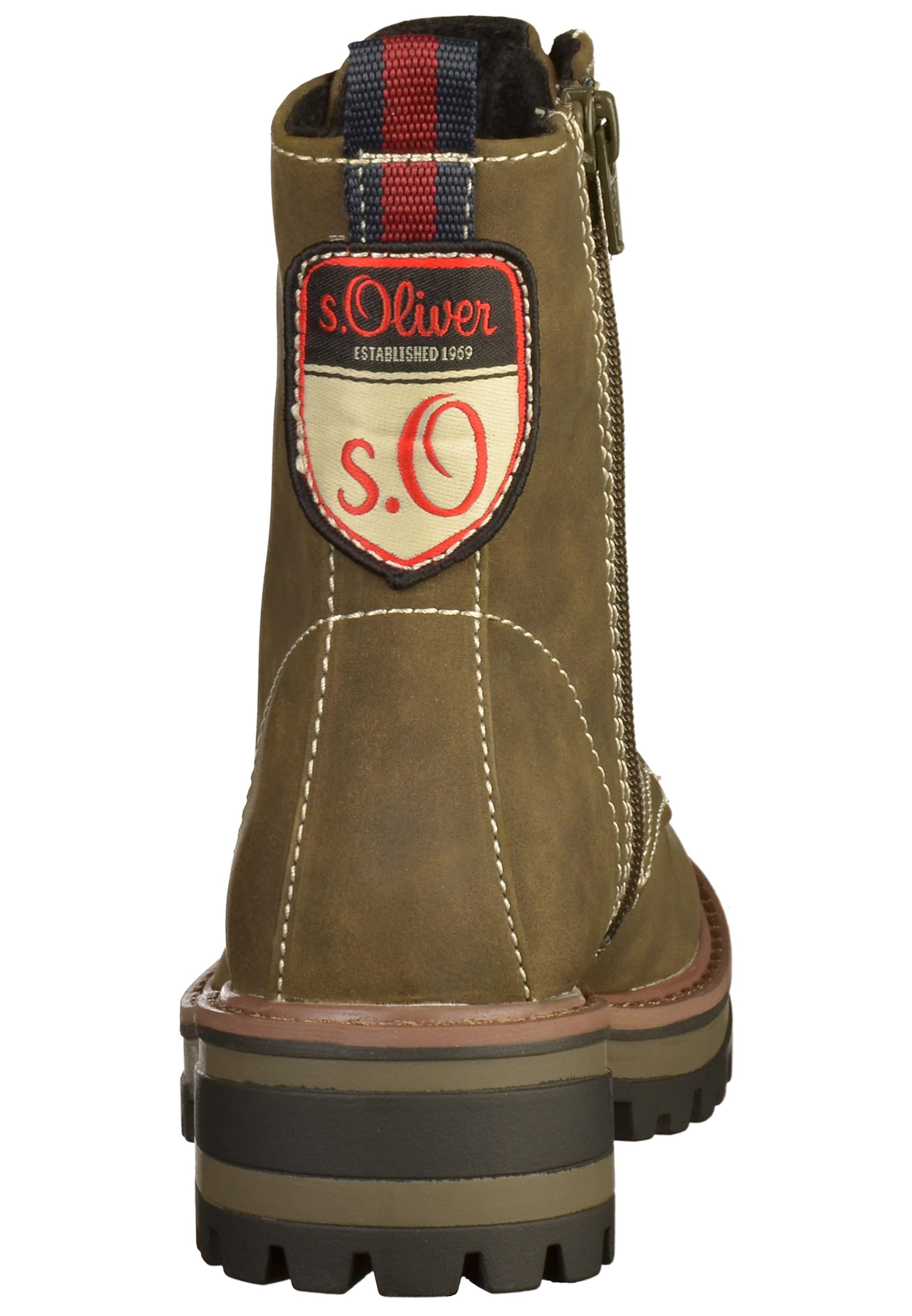 BraunOliv Stiefelette S In Label oliver Red 4qcRS3Aj5L