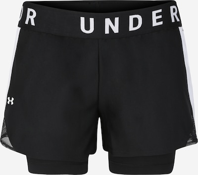 UNDER ARMOUR Sportbroek 'Play Up 2-in-1 Shorts' in de kleur Zwart / Wit, Productweergave