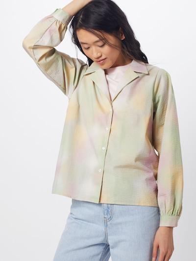 JUST FEMALE Blusen 'Nikki' in mint / pastellgrün / rosa, Modelansicht