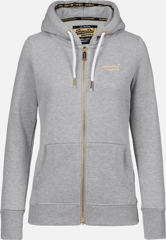 Superdry Sweatjacke in graumeliert  Markenkleidung für Männer Männer Männer und Frauen eda44f