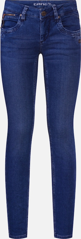 Gang Jean 'NIKITA - jolly sweat Skinny' en bleu denim: Vue de face