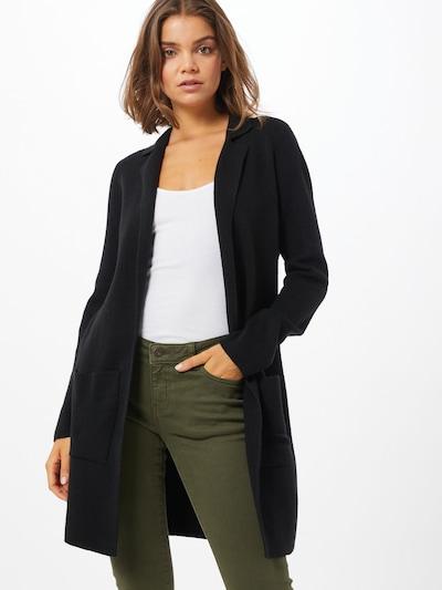 VERO MODA Strickmantel 'Tasty' in schwarz, Modelansicht