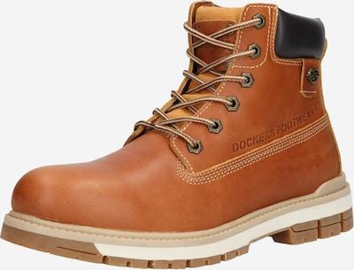 Auliniai batai su raišteliais iš Dockers by Gerli, spalva – smėlio spalva / ruda (konjako) / juoda, Prekių apžvalga