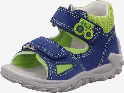 SUPERFIT Baby Sandalen FLOW für Jungen, WMS-Weite M4 in blau / hellgrün, Produktansicht