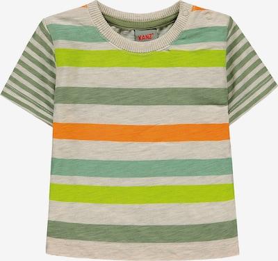 KANZ T-Shirt in kitt / grün / neongrün / orange, Produktansicht
