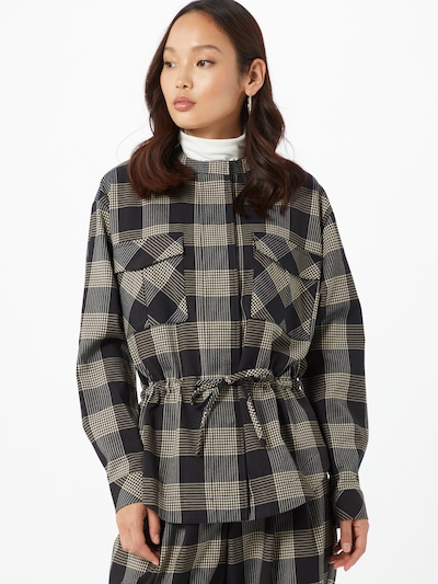 OBJECT Bluse 'Cille' in creme / schwarz, Modelansicht