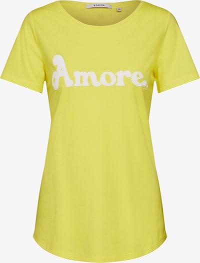 GARCIA T-Shirt in gelb / weiß, Produktansicht