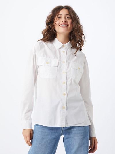 GAP Bluse 'LS CAMP SHIRT' in wollweiß, Modelansicht