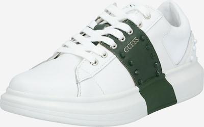 GUESS Baskets basses 'Salerno II' en vert foncé / blanc, Vue avec produit