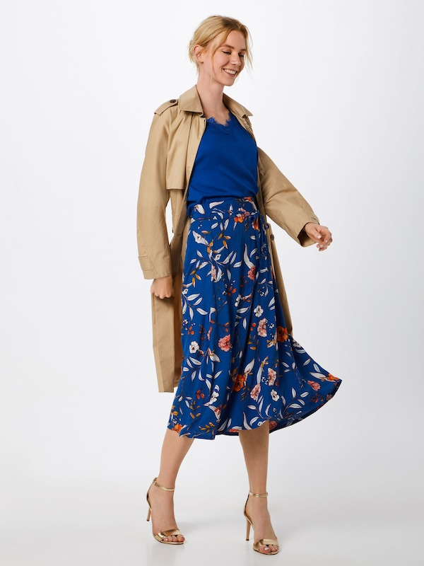 Orange FoncéMélange Couleurs Cream Bleu 'ally Jupe Skirt' De En XZPuOki