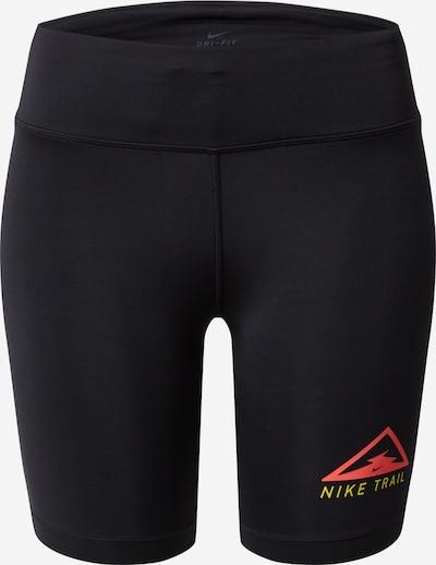 NIKE Športne hlače 'Nike Fast' | rdeča / črna barva, Prikaz izdelka