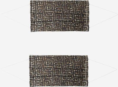 Zwillingsherz Stoffmasken '2er Pack Azteken' in schwarz, Produktansicht