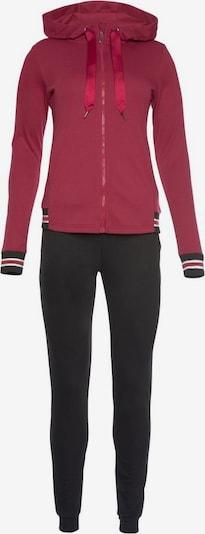 HIS JEANS Sweatsuit in Dark red / Black, Item view