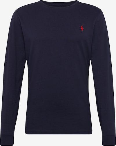 POLO RALPH LAUREN T-Shirt '26/1 JERSEY-LSL-TSH' en bleu nuit / rouge, Vue avec produit
