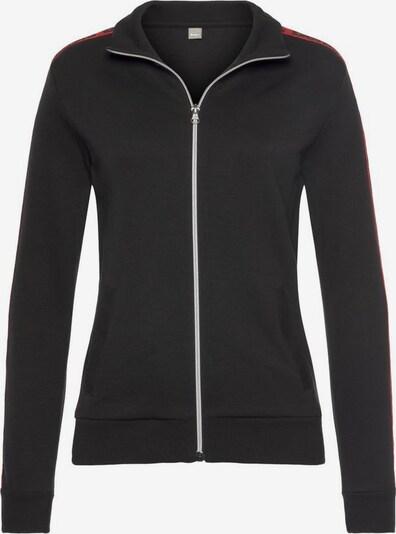 BENCH Sweatjacke in rot / schwarz, Produktansicht