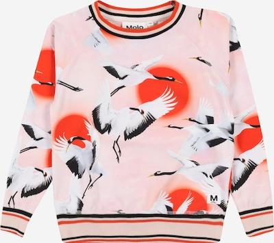 Molo Sweatshirt 'Raewyn' in hellpink / orangerot / schwarz / weiß, Produktansicht