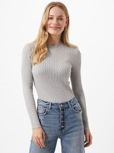 PIECES Pullover 'Sienna' in hellgrau, Modelansicht