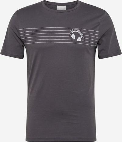 ARMEDANGELS T-Shirt in hellgrau / schwarz, Produktansicht