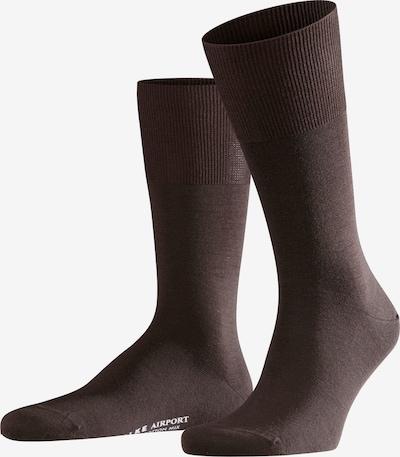 FALKE Socken 'Airport' in dunkelbraun, Produktansicht