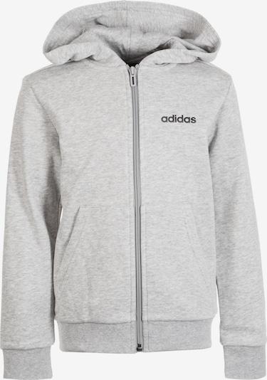 ADIDAS PERFORMANCE Sweatjacke in graumeliert / schwarz, Produktansicht