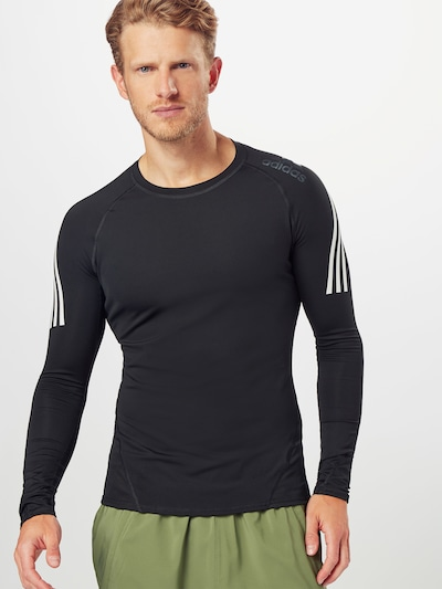 ADIDAS PERFORMANCE Ikdienas krekls pieejami melns / balts: Priekšējais skats