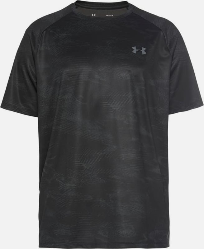 UNDER ARMOUR Funktionsshirt 'TECH 2.0' in schwarz: Frontalansicht