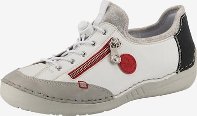 RIEKER Halbschuhe in grau / rot / schwarz / weiß, Produktansicht
